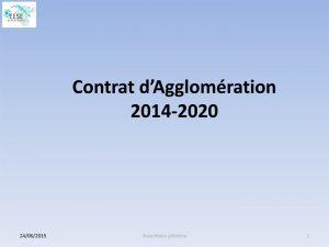 contrat d'agglomération