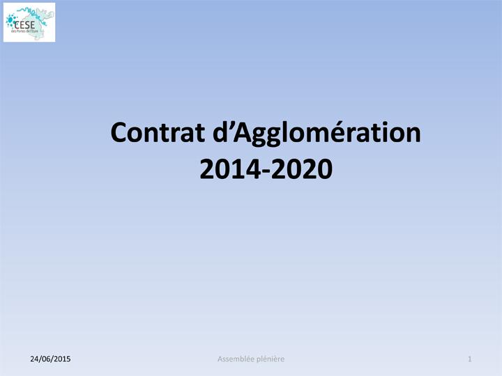 Présentation : Contrat d'Agglomération 2014-2020