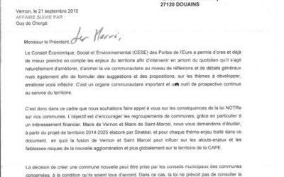 Lettre de mission fusion Vernon / Saint-Marcel